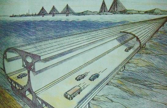 Wie diese unterseeische Straße soll der Eisenbahntunnel von Yantai nach Dalian auf dem Meeresgrund stehen.