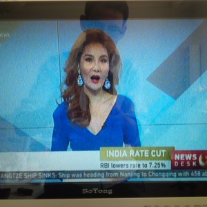 CCTV News berichtet über die indische Börse.