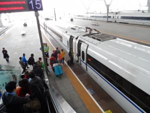 Hochgeschwindigkeitszug in Changsha